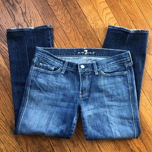 7 for All Mankind Colette Straight Leg Jeans Size
